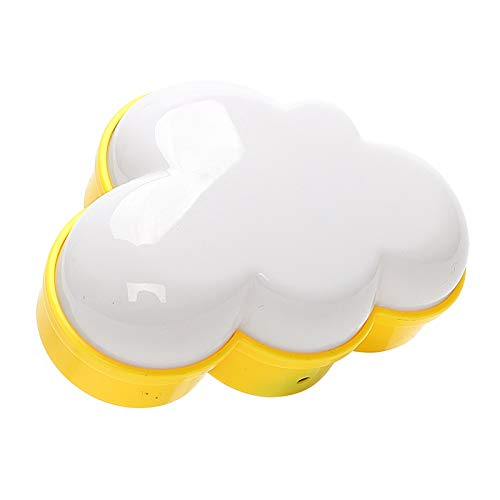 Woodpow Light Sensor Control Night Light Cloud Forma UE EE. UU. Conecte la novedad Lámpara de la noche para niños para la habitación del bebé Illuminator (Emitting Color : Warm White)