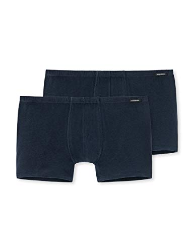 Schiesser Herren Shorts (2er Pack) Boxershorts, Blau (Dunkelblau 803), M