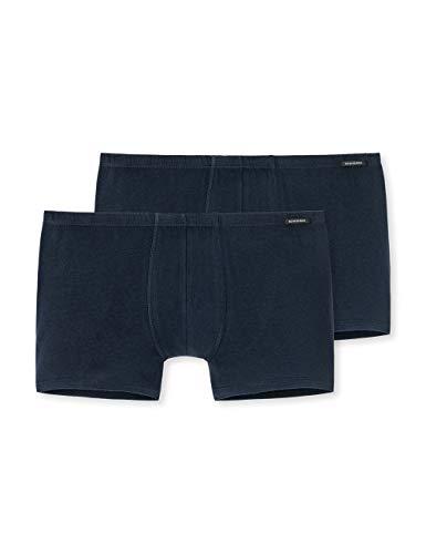 Schiesser Herren Shorts (2er Pack) Boxershorts, Blau (Dunkelblau 803), Medium