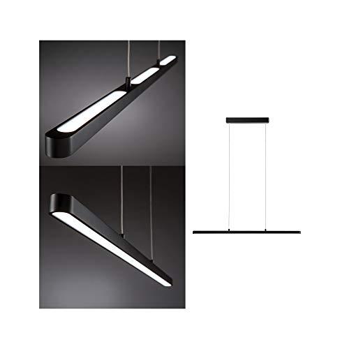 Paulmann 79694 LED Pendelleuchte Lento incl. 1x43 Watt dimmbar Hängelampe Schwarz Deckenlampe Aluminium, Kunststoff Warmweiß 2700 K