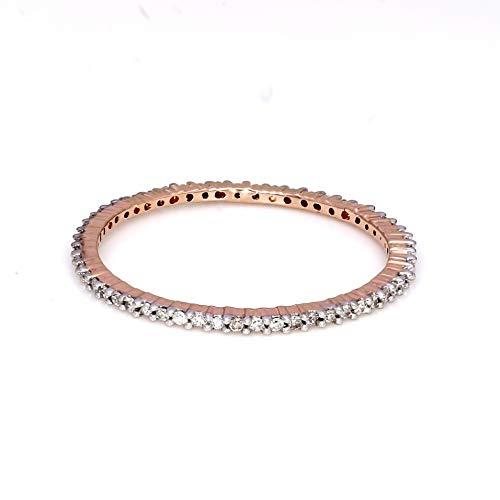 Natuurlijke Diamant Bruiloft Band Ring 1/8 cttw Diamanten ring Voor Vrouwen Echte Diamanten ring 9K Rose Goud GH-I2 Kwaliteit Natuurlijke Diamanten Ring