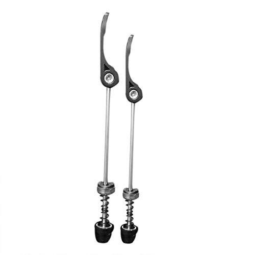 Pennytupu - Pinchos de liberación rápida para bicicleta (eje delantero, eje trasero, 145 mm)