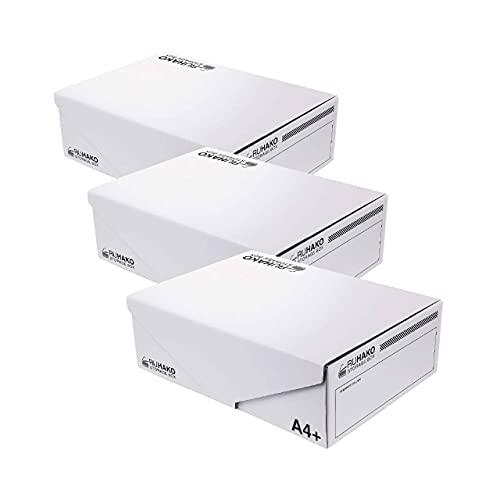 RUHACO (ルハコ) 収納ボックス ふた付き 収納ケース ファイルボックス ふた 磁石 タイプ 3個1セット