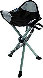 commercial TravelChair Lazy stool chair, tripod chair, black portable collapsible stool