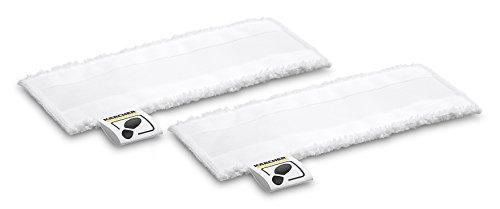 Kärcher EasyFix Microvezeldoekset, voor SC vloerzuigmond van alle Kärcher-stoomreiniger, comfortabel klittenbandsysteem, voetflap op de vloerdoek, voor hoeken en randen, hoogwaardige microvezel.