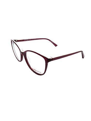 ETNIA BARCELONA YORK BXPK 53, occhiali da vista da donna, montatura oversize in rosso granato marrone.