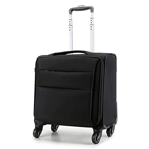 RZB Rolling Overnight Laptop Bag. Slim, Compact Design Rolling Overnighter Case for Women and Men. Fits up to 16 inch Laptop