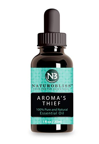 Aroma's Thief Essential Oil by NaturoBliss 30 ml Therapeutic Grade Health Shield and Germ Fighter - Aromatherapy Essential Oils Blend of Cassia Clove Rosemary Eucalyptus Lemon