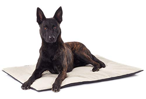 Woofery - Hundematte Jiminy - rutschfest Reißverschluss L 90 x 60 cm Beige