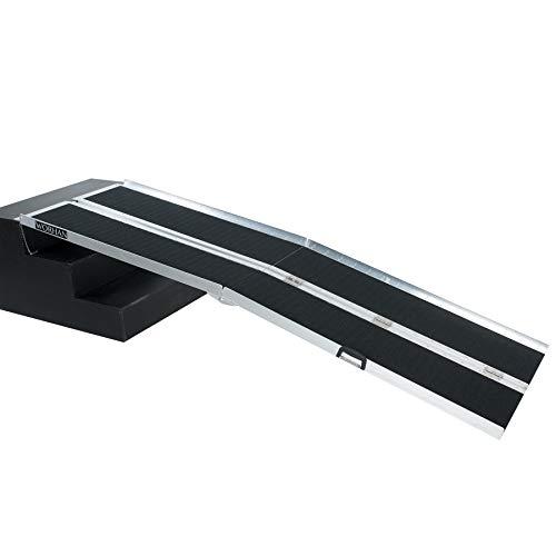 WORHAN® 2.44m Rampa Plegable Carga Silla de Ruedas Discapacitado Movilidad Aluminio Anodizado...