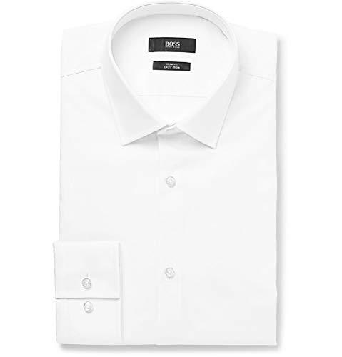 BOSS Hugo Boss Slim Fit camisa de Jenno Blanco 44