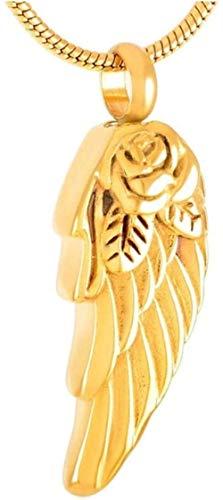 NC83 Collar Vintage Punk Rock Style Wing Cre Joyas en collares pendientes Mujer Hombre Joyas Joyas Medallones Oro negro