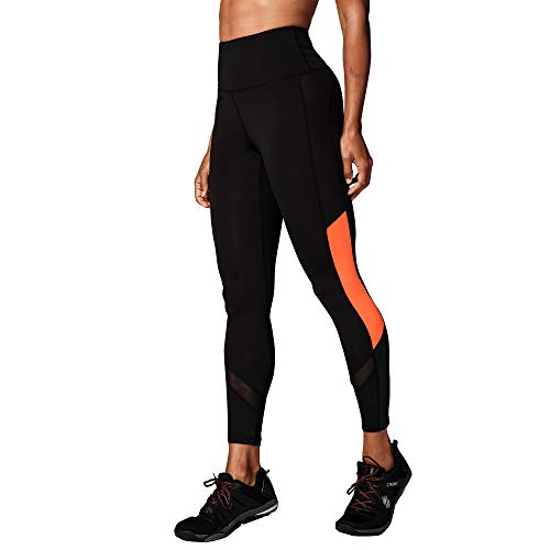 STRONG by Zumba Strong ID Ankle Length Tummy Control Fitness Workout High Waisted Gym Leggings, Black B, Large Donna