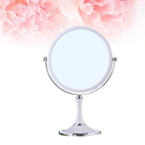 Leilims 1pc 8 Pouces Miroir grossissant Double Face Elliptique European Fashion Miroir Accessoire Outil de Maquillage