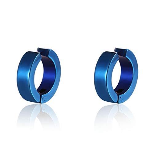 liuliu 1 pair Classic Korean Punk Stainless Steel Ear Clip Earrings For Men Women Black No Pierced Fake Ear Circle New Pop Jewelry