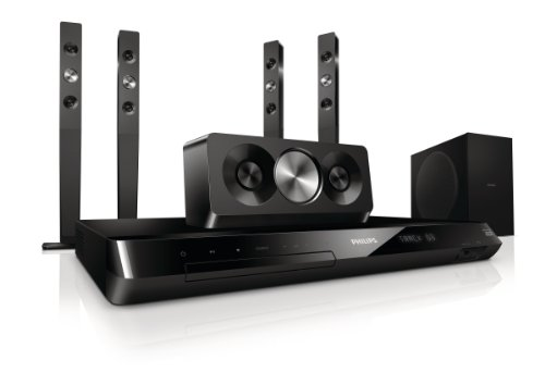 Philips HTS5593/12 5.1 3D Blu-ray Heimkinosystem (HDMI 1.4, Full HD, 1000 W, DivX, iPod/iPhone/MP3 Link, Smart TV) schwarz