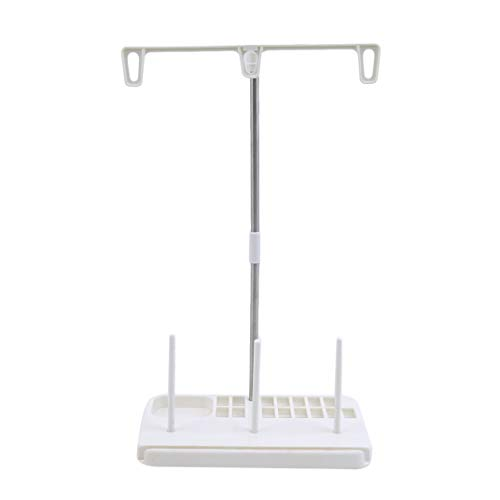 DYSCN Thread Spool Holder Stand Set Set for Domestic Embroidery Machines à coudre Accessoires pour fournitures de couture, Blanc