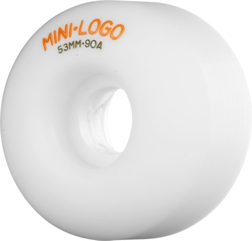 Skate One Mini-Logo C-Cut 53mm 90a Hybrid Wheels, White