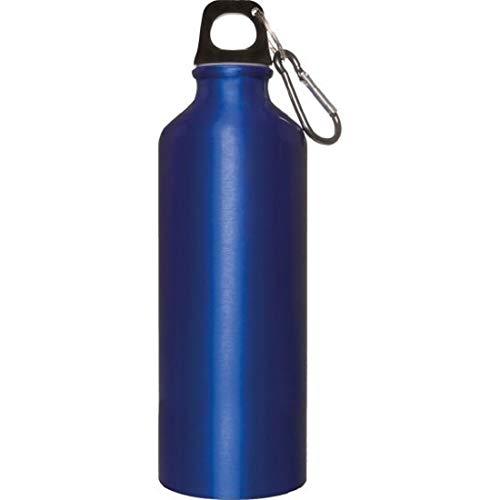 Borraccia Alluminio 500 ml con moschettone in Alluminio. Materiale: Alluminio/plastica Misure Articolo (cm): Ø 6,5x21 cm.per info contattare MF Sport 055-264490 (Blu)
