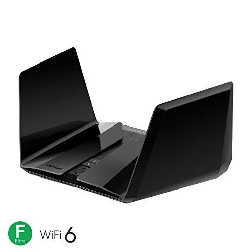Netgear RAX200 Router WiFi 6 Nighthawk AX12, Velocità Wireless AX1100 Triband, WiFi a 12 Stream, 4 Porte Gigabit e 1 porta 2.5G