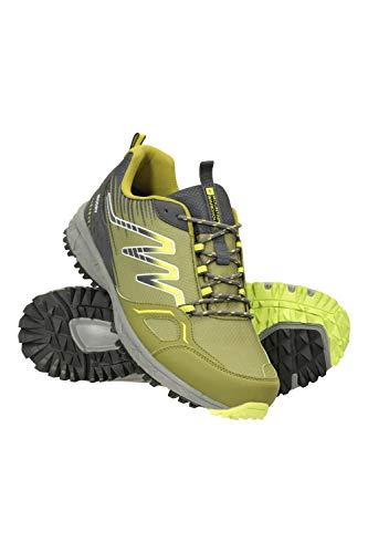 Mountain Warehouse Jupiter wasserdichte Trail-Schuhe für Herren – IsoDry-Sportschuhe, atmungsaktiv, Eva-Fußbett, hohe Traktion – ideal für Spaziergänge, Wandern, Camping Limette 44