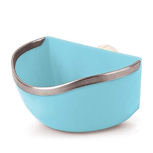 Mkono Plastic Cage Feeder Food n Water Hay Bowl Dish for Rabbit Guinea Pig Chinchilla Hamster Ferret...