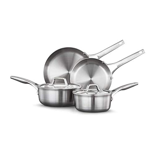 Calphalon Premier Stainless Steel 3-Ply 6-Piece Cookware Set