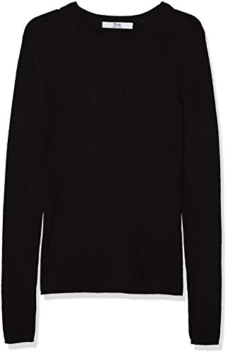 Marca Amazon - find. Jersey con Cuello Redondo Mujer, Negro (Black), 40, Label: M