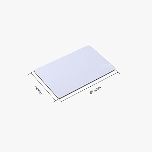 Fongwah NTAG216 Blank NFC PVC IC Card White Color - Fully programmable, and Works with All Android NFC Enabled Devices (20)