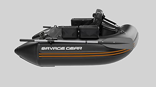 Savage Gear High Rider Belly Boat Inflatable Fishing Raft | Inflatable Boat River Tube for River Fishing and Fly Fishing