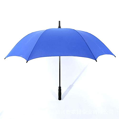 HXIFYS Golfschirm,Übergroß 8 Knochen Gerader Regenschirm,Ballaststoff Draussen Regenschirm Mit Langem Griff,Schwarzer Kleber Reise Regenschirm,Halbautomatisch Wunderschönen/Blau / 110x98cm