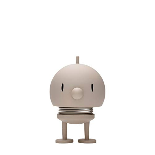 Hoptimist - Dekofigur, Wackelfigur - Medium Bumble - Matt - Ash - Ø 7 cm - Höhe 11 cm
