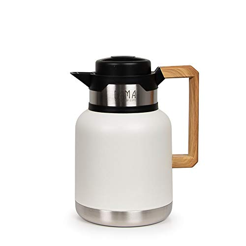 Bama - Pichet isotherme design avec poignée en bois 1L