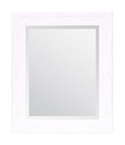 Select Spiegel Rhone Wandspiegel–French Vintage, Rokoko Barock Stil–Weiß–50cm x 60cm–Shabby Chic Home Decor von
