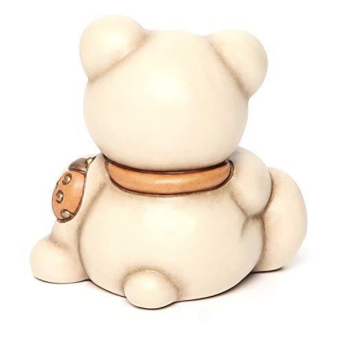 THUN® - Orso Teddy Rudy Piccolo con Coccinella Portafortuna - Animali Soprammobili da Collezione - Ceramica - I Classici
