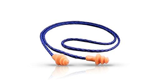 3M 1270 Corded Reusable Noise Reduction Earplug (Pack of 5),Multicolour