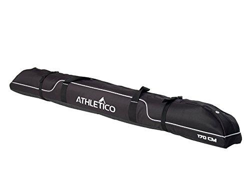 Athletico Diamond Trail Gepolsterte Skitasche – Ski Reisetasche zum Transport von Skis, schwarz, 170cm