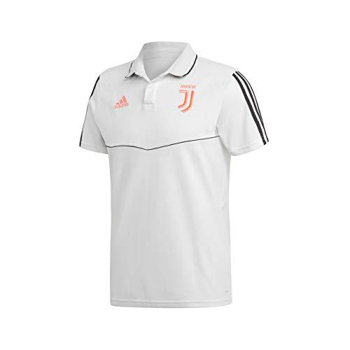 Juventus Polo Team Bianca 2019/20-100% Originale Ufficiale Juve Uomo - L, Bianco