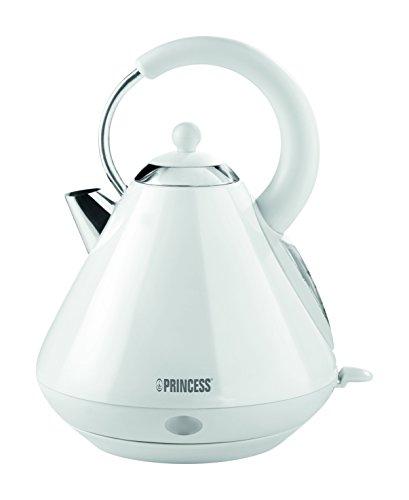 Princess Design Edelstahl Wasserkocher mit großem Fassungsvermögen (1.7 L), kabellos und 360° drehbar