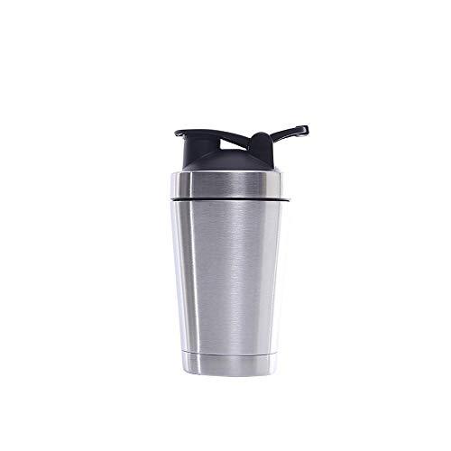 Arvin87Lyly - Bottiglia di proteine in acciaio inox, a due strati, per conservare il calore, tazza da viaggio a prova di perdite, Acciaio Inox, a, 500 ml