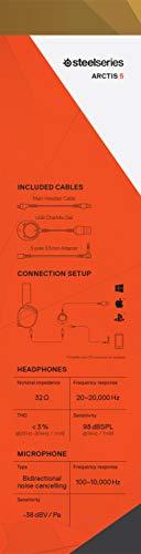 SteelSeries(スティールシリーズ)『サラウンドサウンドRGBゲーミングヘッドセットARCTIS5』