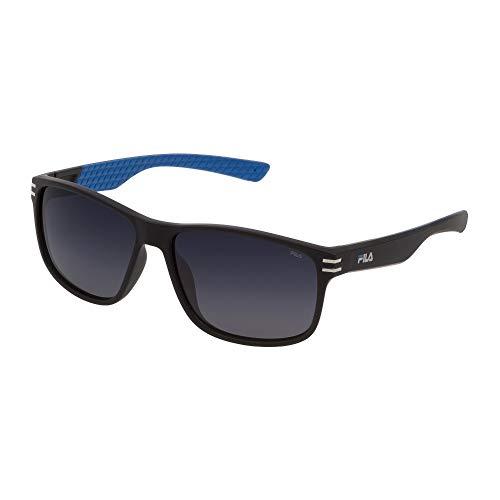 Fila gafas de sol SF9328 U28Z gafas de sol de los Hombres de color Negro de la lente de humo de tamaño de 60 mm