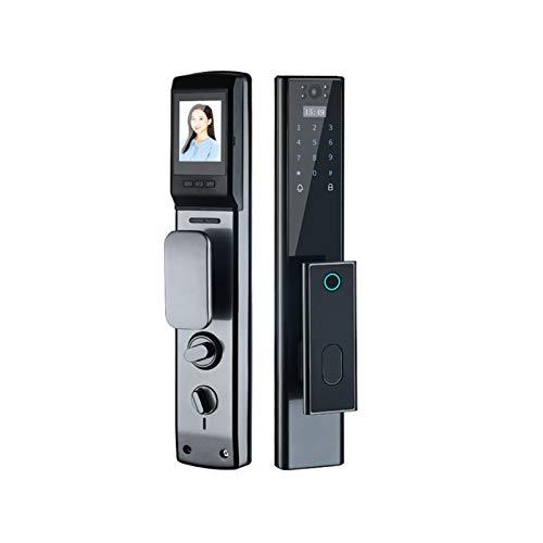 Q4 Cerradura de Huellas Dactilares, Cerradura electrónica Inteligente, con Llave, Pantalla de Alta definición de 3 Pulgadas, batería de Alta duración, se Utiliza para la protección de Seguridad