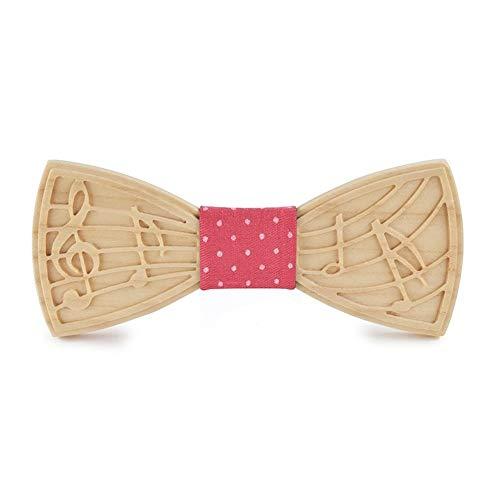 Niustore gesneden houten vlinderdas de muzikale notities bruiloft bankett handgemaakt houten geschenk de houten kist mannen de vlinderdas