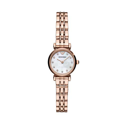 Emporio Armani Damen Analog Quarz Uhr mit Edelstahl Armband AR11203