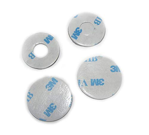 """6 of VHB 3M Adhesive Dots Double-Sided Tape High Bond Conformable Acrylic Glue Replacement Kit 3 of 3/4"""", 3 of 0.94 Inch Circle Small Round Plus Alcohol Pad"""