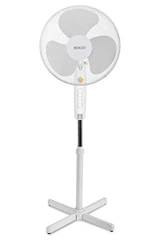 SOGO VEN-SS-21230 - Ventilador de pie (40 cm), color blanco