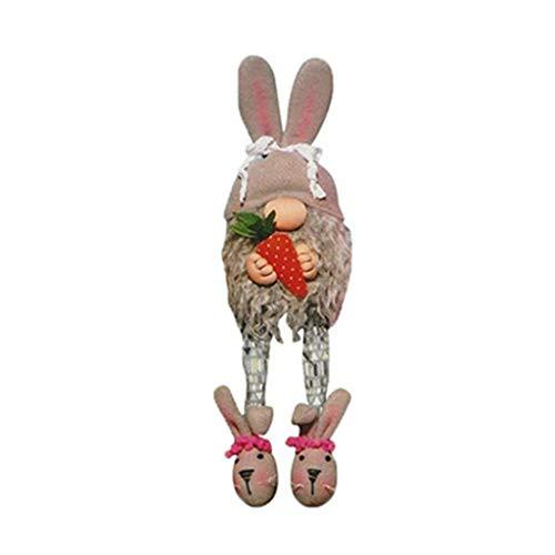 Yasu7 - Adorno de enano de Pascua, hecho a mano de peluche a mano, decoración de la casa