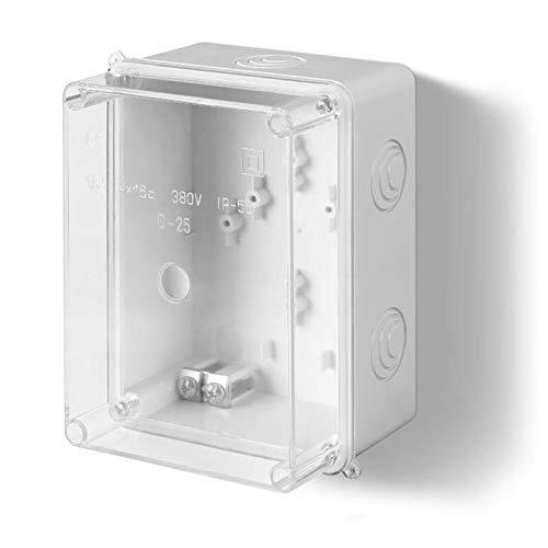Aufputz Schalkasten IP55 Verteilerkasten 158x118x97 transparent Gehäuse