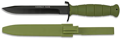 Cuchillo Coleccion Verde ABS para Caza, Pesca, Camping, Outdoor, Super